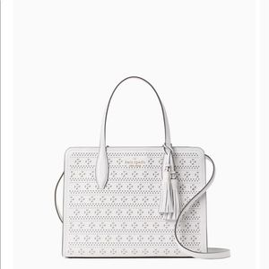 Kate Spade Rowe Perf Medium Top Zip Satchel